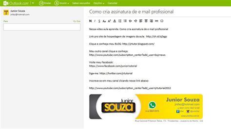 layout para email video aula do corel draw como criar assinatura de e mail