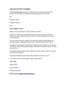 Letter Of Agreement Template Free Agreement Letter Template