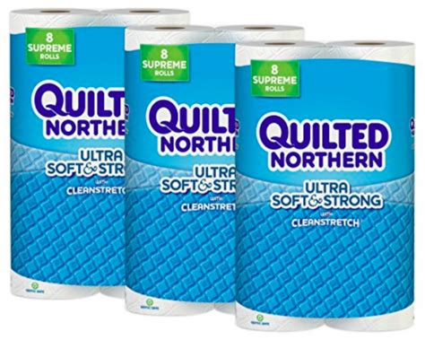 Quilted Northern 24 Rolls by Quilted Northern Ultra Soft Strong Toilet Paper 24 Supreme Rolls Only 21 05