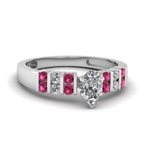 handmade in usa pink sapphire engagement rings