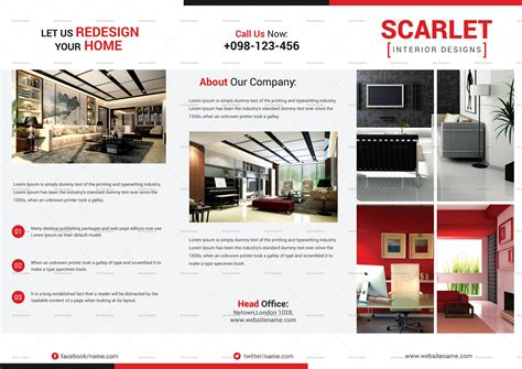 23 interior decoration brochure templates free word trifold interior design brochure template in psd word