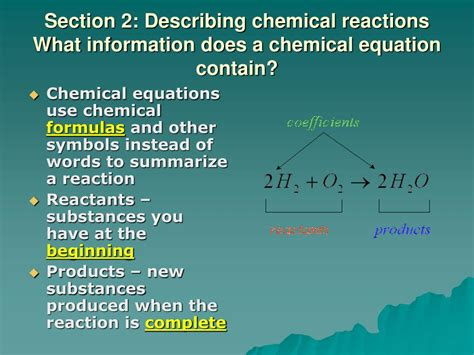 sectionalism facts ppt chapter 2 chemical reactions section 1 observing