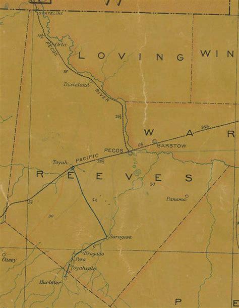 reeves county texas map reeves county texas