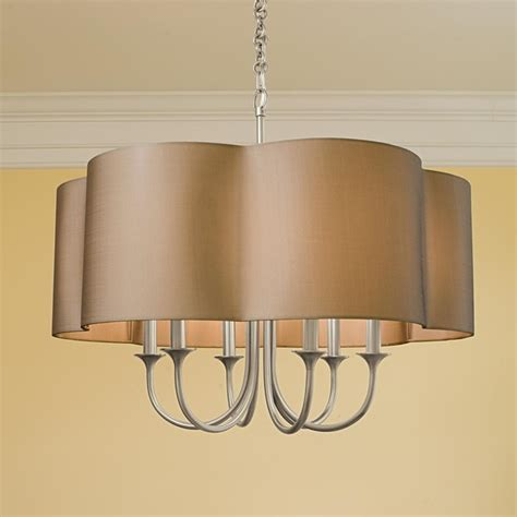 Chandelier L Shades Mod Pendant Shade Chandelier 6 Light L Shades By