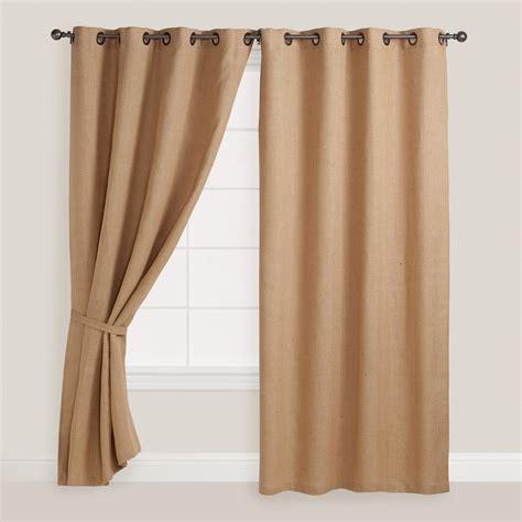 Grommet Burlap Curtains Hemp Burlap Grommet Top Curtain World From Cost Plus World