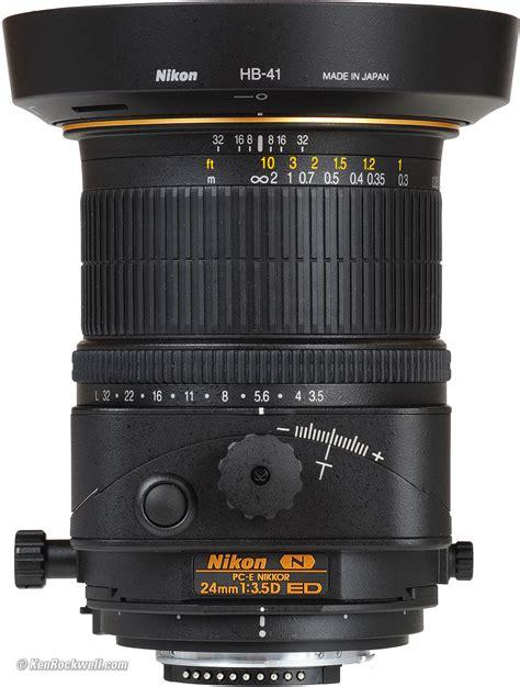 swing and tilt lenses nikon 24mm pc e review