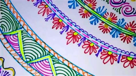 How To Make A Chart Paper Attractive - easy simple and attractive border designs project file