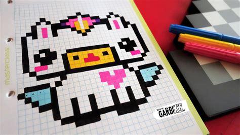 C Drawing Pixels by Handmade Pixel How To Draw Kawaii Unicorn Pixelart