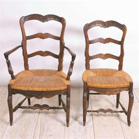 set   french provincial louis xv dining chairs