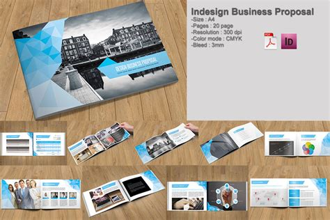 indesign business proposal brochure templates
