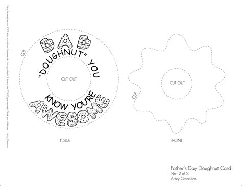 father s day doughnut card artzycreations com