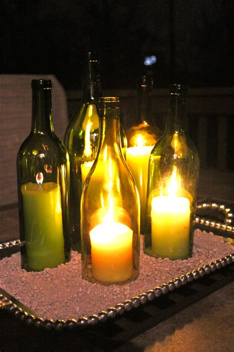 wine bottle candle centerpieces how to wine bottle centerpieces everyday