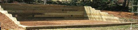 huge landscape landscaping timbers retaining wall