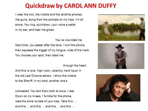 by carol duffy quickdraw read by carol duffy