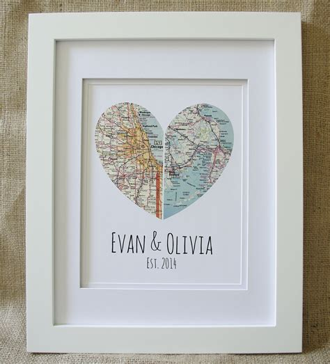 Ordinary Newlywed Christmas Cards #1: 54ff07da78db4-registry-wedding-gift-idea-etsy-map-of-our-hearts-frame-s2.jpg