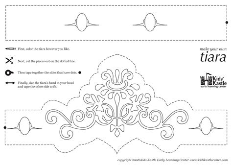 free printable tiara template princess crown pattern printable princess tiara