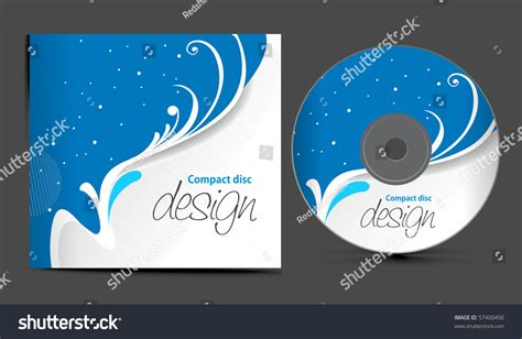 cd jacket design template vector cd cover design template copy stock vector 57400450