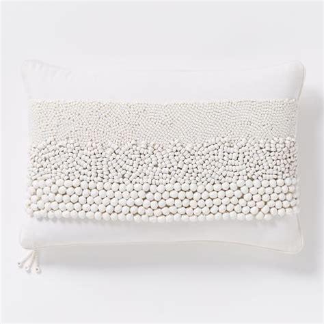 beaded trio stripe pillow cover west elm
