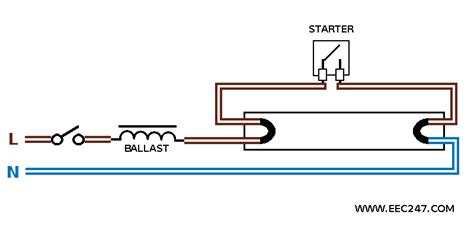 fluorescent light wiring diagram for ballast metal halide
