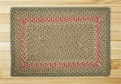 rectangle braided rugs rectangle green and burgundy jute braided earth rug 174