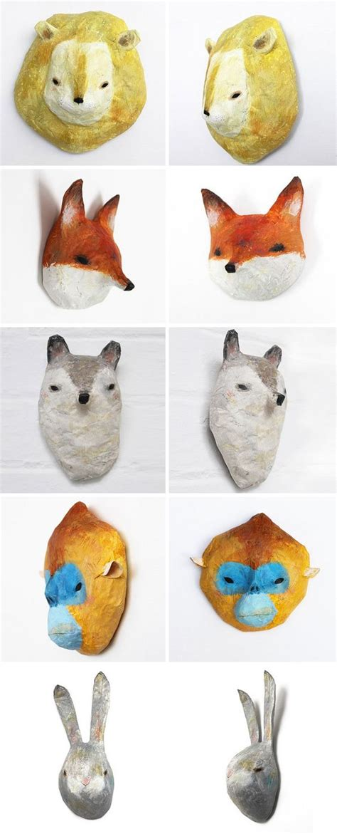 How To Make Paper Mache Animals - i am in with these charming paper mache animals