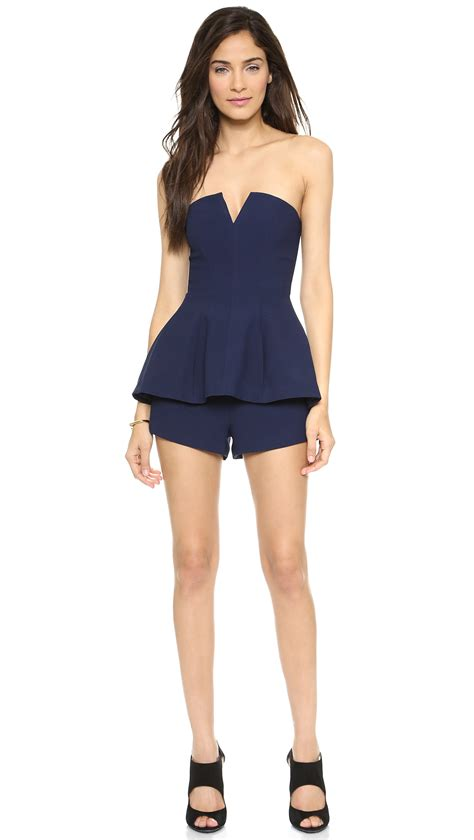 Romper Navy lyst finders keepers rise and fall romper navy in blue