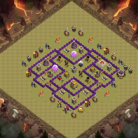 Layout Coc Paling Kuat Th 7 | kumpulan formasi coc th 7 lengkap air sweeper gils blog