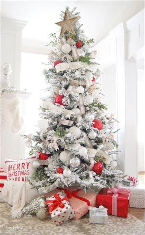christmas home decorations pinterest 17 best ideas about red christmas trees on pinterest red