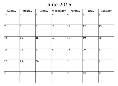 free 2015 monthly calendar template monthly planner calendar template june 2015 free printable