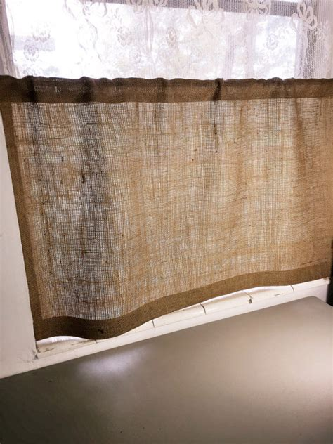 Burlap Cafe Curtains Burlap Cafe Curtain With Free Jute Tieback 38 Wide X