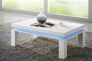table basse design blanc led int 233 gr 233 comforium