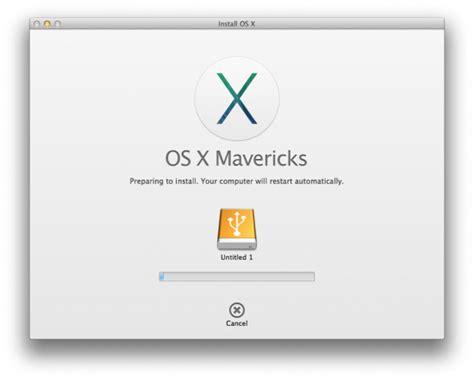 Mavericks Usb Installer how to install os x mavericks on an external drive apple