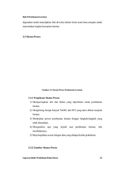 laporan praktikum kimia membuat larutan dari zat padat laporan akhir praktikum kimia dasar unjani