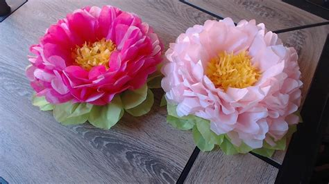How To Make Simple Tissue Paper Flowers - how to make tissue paper flower easy method my