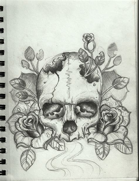drawing tattoo design skull design by frosttattoo on deviantart
