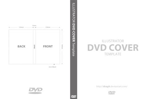Dvd Template Illustrator Dvd Cover Template For Illustrator By Dragit On Deviantart