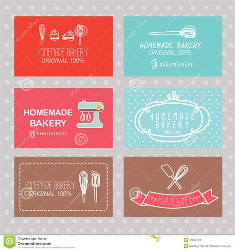 business card template for a bakery bakery business card stock vector illustration of frame