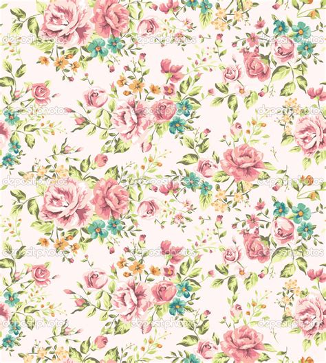 Vintage Flowers Pattern flower patterns intannaly