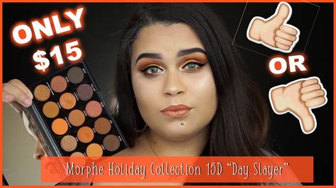 Morphe 15d Day Slayer Eyeshadow Palette only 15 morphe brushes collection palette review 15d day slayer impression