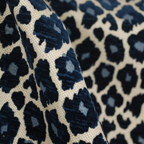 light blue leopard print fabric simba navy blue chenille upholstery fabric cheetahs