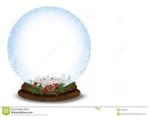 christmas snow globe on white stock image image 34996871