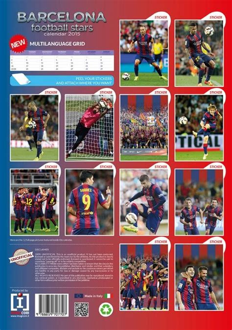 barcelona calendar fc barcelona calendars 2018 on europosters