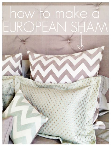 how to make a bed pillow european pillow sham tutorial u create