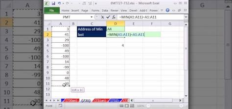 Excel Lookup Cell Address How To Retrieve The Cell Address Of The Minimum Value In A