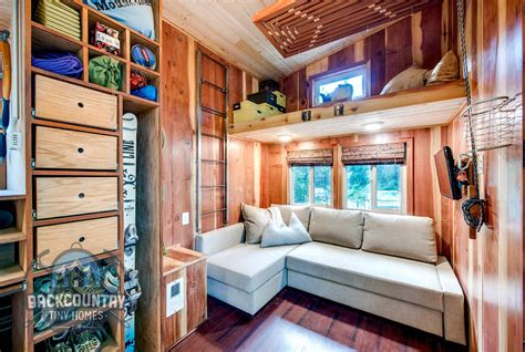 tiny house living room luke tina s basec tiny house tiny house design