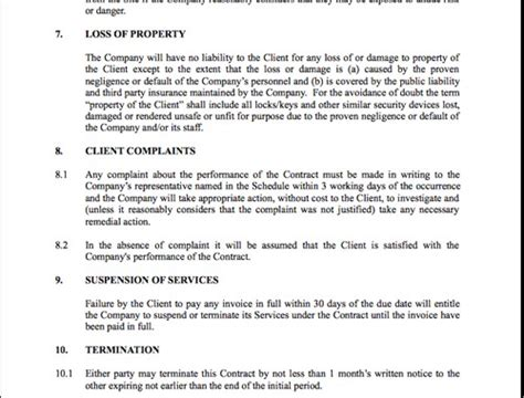 security services contract template contract for security services template security guards