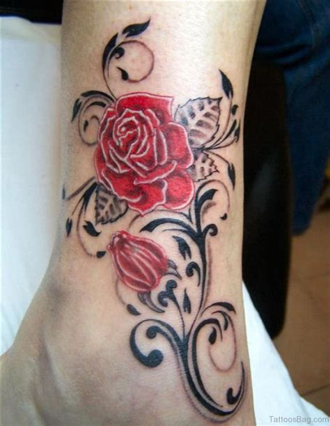ankle rose tattoo 50 fabulous tattoos on ankle
