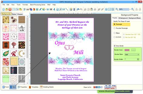 program to make cards wedding card maker software to design and print wedding