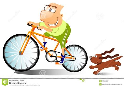 on a bike is on a bike stock illustration image 17436667