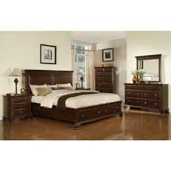 king storage bedroom sets brinley cherry storage bedroom set king 6 pc sam s club
